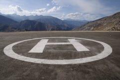 helikopterlandningblock fotografering för bildbyråer