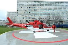 Helikopternoodsituatie Medische Servic Royalty-vrije Stock Afbeeldingen