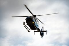 helikopterpolis arkivfoton