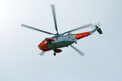 helikopterräddningsaktion arkivbild
