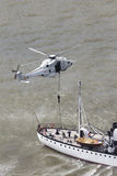 Helikopterräddningsaktion Arkivfoto