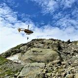 Helikopterredding van de Sleep van Lakblanc Stock Afbeeldingen