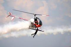Helikopterreklamblad royaltyfria foton