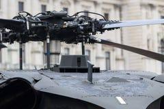 Helikopterrotorhuvud Arkivfoto