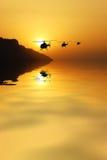 Helikopters in de hemel Royalty-vrije Stock Foto's