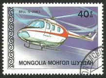 Helikopters, klok-s-206L stock fotografie