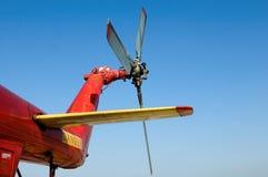 Helikoptersvansrotor arkivfoto