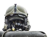 Helikopteru pilotowy hełm Zdjęcia Royalty Free