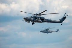 Helikoptery w locie Zdjęcia Royalty Free