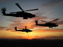 helikoptrar Royaltyfri Fotografi