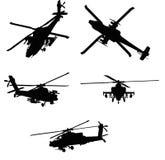 helikoptrar vektor illustrationer