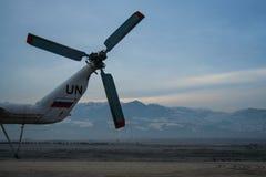 Helikoptrar i Afghanistan Arkivfoto