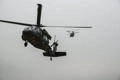 Helikoptrar i Afghanistan Arkivfoton