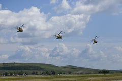Helikoptrar i himlen Royaltyfria Foton