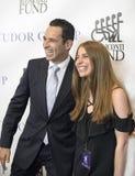 Helio Castroneves i Jessica Hirschberg Obraz Stock