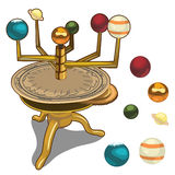 Heliocentric model of the solar system Stock Image