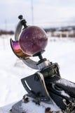 Heliograf Solskenregistreringsapparat isolerat på vit bakgrund Fotografering för Bildbyråer