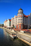 HELIOPARK Kaiserhof hotel in the Fish village in Kaliningrad, a beautiful summer city landscape. Stock Images