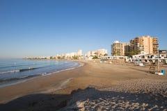 Heliopolis Beach in Benicassim Stock Images
