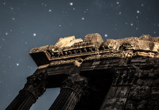 Heliopolis castle in the night Royalty Free Stock Photos