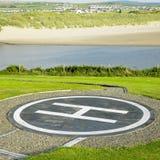 Helipad. In County Clare, Ireland Royalty Free Stock Photography