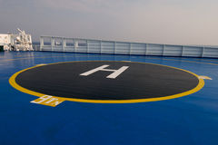 Helipad area on ship Stock Image