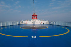 Helipad area on stern of ship Royalty Free Stock Photography