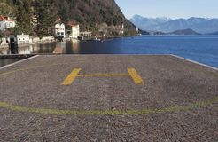Helipad on cobble stone Stock Photography