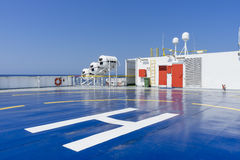 Helipad on the deck Royalty Free Stock Photo