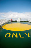 Helipad on a ferry Royalty Free Stock Images
