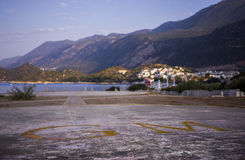 Helipad of Kas. Royalty Free Stock Photos