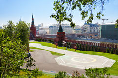 Helipad in Kremlin, Moscow, Russia Stock Photo