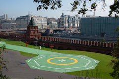 Helipad in the Moscow Kremlin Stock Photo