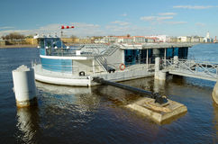 A helipad on the Neva. Stock Photos