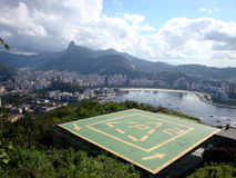 Helipad at Sugarloaf Mountain Royalty Free Stock Images