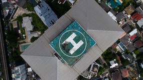Helipad on top of the skyscraper Stock Photography