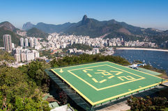 Helipad on Urca Mountain in Rio de Janeiro Royalty Free Stock Photography