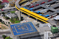 Heliport and bus terminal in Sao Paulo, Brazil Stock Photos