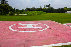 Heliport for helicopter. In lopburi of Thailand Royalty Free Stock Photography