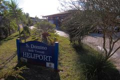 San Domino Heliport stock photo