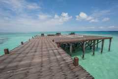 Heliporto na ilha Imagens de Stock