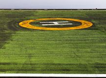 heliportsignaleringsvisual Arkivfoton