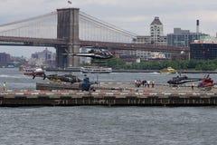 Helipuerto céntrico 63 de Manhattan Foto de archivo libre de regalías