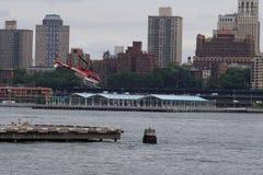 Helipuerto céntrico 35 de Manhattan Imágenes de archivo libres de regalías