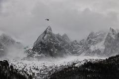 Heliski il Monte Bianco di Chamonix-Mont-Blanc immagini stock