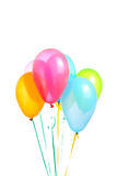 Helium balloons group. Colorful balloons on a white background Stock Image