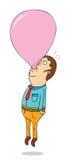 Helium bubble gum. Illustration of a helium bubble gum Stock Image