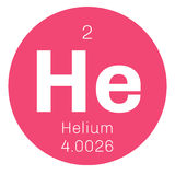 Helium chemical element Stock Image