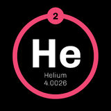 Helium chemical element Royalty Free Stock Images