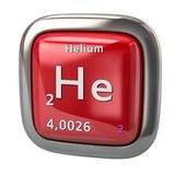 Helium He chemical element from the periodic table red icon stock illustration